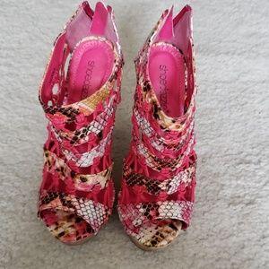 Shoedazzle Peeptoe Wedge
